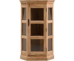 Petite vitrine d'angle 1 porte acacia