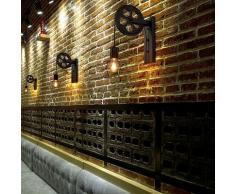 2PCS R?tro Lampe Murale Industrielle E27 Applique Poulie Eclairage D?cor pour Caf? Restaurant