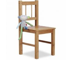 Petite chaise enfant en bambou chaise déco pour plantes ou fleurs HxlxP: 57 x 27 x 29 cm, nature