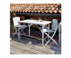 Ensemble de jardin resine design Zic Zac Classic 117x72 par NARDI - Rose - Extérieur - Relevable