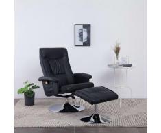 Vidaxl - Fauteuil de Massage avec Repose-pied Similicuir Noir