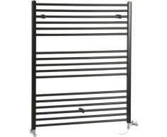 Hudson Reed Nox - Sèche-Serviettes Design Mixte Moderne Plat - Noir - 120 cm x 100 cm
