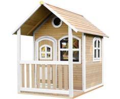 Alex Maison Enfant en Bois FSC | Maison de Jeux pour l'extérieur / Jardin en marron & blanc |