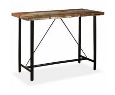 Hommoo Table de bar Bois massif de récupération 150 x 70 x 107 cm