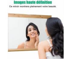 Miroir Mural pour Salle de Bain avec Etagère de Style Exotique 90 x 16 x 69 CM Miroir de Maquillage