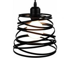 Suspension Luminaire Industrielle Design forme Ressort Cage Ø 20cm?Lampe de Plafond en Métal Fer