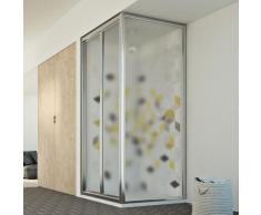 Parois cabine de douche pliante verre opaque h 198 mod. Urban Duo P 70X90 ouv. 90 cm