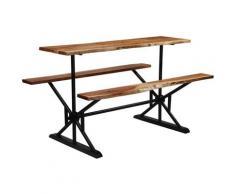 Asupermall - Table de bar avec bancs Bois massif d'acacia 180 x 50 x 107 cm