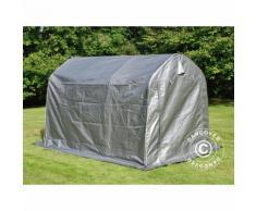 Tente de stockage Tente Abri PRO 2x3x2m PE, avec couverture de sol, Gris