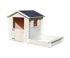Cabane en bois pour enfant avec bac à sable - Amande