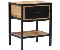 Helloshop26 - Table de nuit chevet commode armoire meuble chambre bois de manguier massif 40 x 30 x