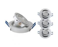 LOT DE 3 SPOT LED ENCASTRABLE ORIENTABLE 5W eq. 50W, BLANC NEUTRE ref.64854000