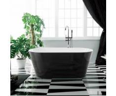 Baignoire ilot Ovale - Acrylique Noir et Blanc - 170x80 cm - S�ville