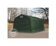 Tente-garage carport 3,3x8,4 m d'élevage abri agricole tente de stockage bâche env. 550g/m²