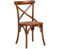 Chaise en bois Thonet pour table déjeuner restaurant pizzeria cuisine fermes arte povera Noyer