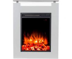 Gaia Bianco cheminée électrique au sol cm 87,5x68x17 GLOW-FIRE GAIA
