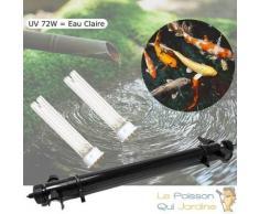U.V 72W pour Bassin de Jardin de 25 à 45 m³ + 2 ampoules de rechange
