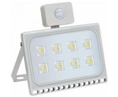 10 PCS 50W Projecteur LED SMD Lampe Extérieure Mit Bewegungsmelder Blanc Froid