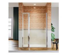 Porte de douche pivotante en niche avec paroi de suppl