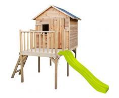 Soulet - Cabane en bois pour enfant pilotis et toboggan - Charlotte