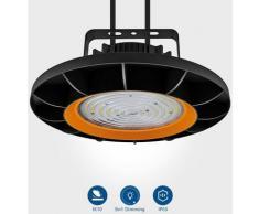 4×Anten 150W UFO Projecteur LED Dimmable Projecteur LED d'éclairage Industriel Suspension IP65