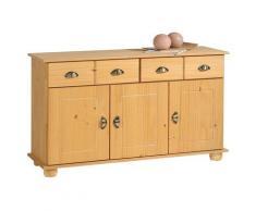 Idimex - Buffet COLMAR commode bahut vaisselier meuble bas rangement avec 2 tiroirs et 3 portes, en