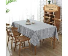 Nappe rectangulaire en coton et lin, nappe anti-poussière, table de cuisine et nappe 140X200CM