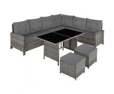 Canapé de jardin BARLETTA modulable, variante 2 - table de jardin, mobilier de jardin, fauteuil de