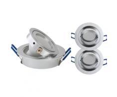 LOT DE 2 SPOT LED ENCASTRABLE ORIENTABLE 5W eq. 50W, BLANC CHAUD ref.64853000