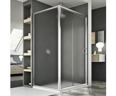 Parois cabine de douche coulissante rectangulaire verre opaque h 185 mod. Replay Duo 1 porte 90X140