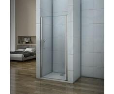 Porte de douche 90x187cm porte de douche pivotante installation en niche