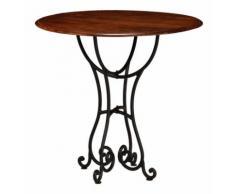 Table de salon salle à manger design bois acacia et finition sesham 80 cm