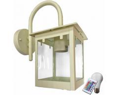Lampe de paroi extérieure lanterne d'éclairage télécommande verre ensemble clairement y compris les