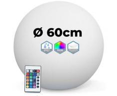 Boule Lumineuse LED Multicolore 60CM Sans Fil Fabriqué en Polyéthylène épais
