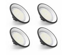 4PCS×Anten Projecteur LED 150W UFO LED | Lampe Industrielle Anti-Éblouissement Suspension |