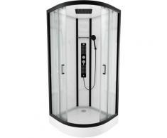 Cabine de douche 1/4 de cercle 90x90x215cm - FACTORY ROUND