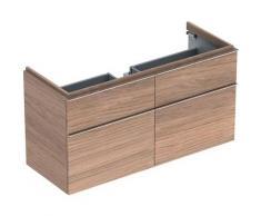 Keramag iCon Meuble sous-lavabo 840420 1190x620x477mm, poli alpin brillant, Coloris: Chêne naturel