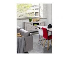 Price Factory - Buffet, bahut moyen modèle MALA coloris chêne wellington. - Marron
