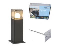 Lampe d'extérieur 30 cm anthracite avec épingle de terre et manchon de câble - Danemark Qazqa