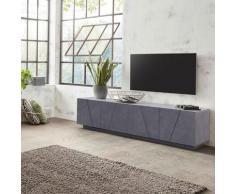 Ahd Amazing Home Design - Meuble TV 4 portes 2 pièces design moderne Ping Low L Ardesia