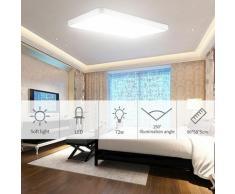 Hommoo - 2 PCS Plafonnier LED ultra-mince 72W pour salle de bain cuisine LiVing Square