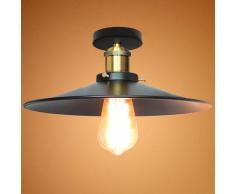 Axhup - 3pcs Plafonnier Lustre Industrielle Vintage Rétro Lampe de Plafond E27 26cm Luminaire Salon