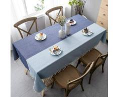 Ilovemono - ILoveManoMano Nappe anti-poussière d'épissage, nappe rectangulaire, ornements de table