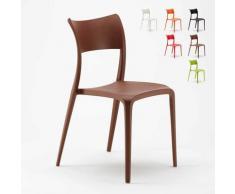 Chaise en Polypropylène pour Salle à Manger Bar Restaurant et Jardin Parisienne | Marron