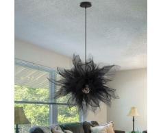 Moderne Lustre Suspension Créatif Luminaire pour Salon Chambre Enfant, E27 Noir