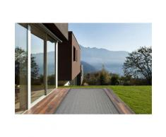 Deladeco - Tapis d'extérieur et d'intérieur contemporain plat Cole Gris 135x190 - Gris