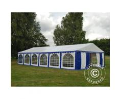 Tente de réception Exclusive 6x12m PVC, Bleu/Blanc