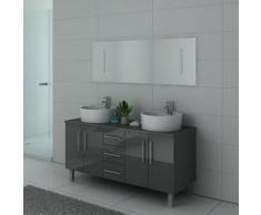 Distribain - Meuble de salle de bain DIS989 Gris Taupe