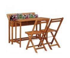 Youthup - Table de balcon avec 2 chaises de bistro Bois d'acacia massif