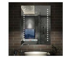 Miroir LED miroir de salle de bain Miroir lumineux 80x60cm anti-buée